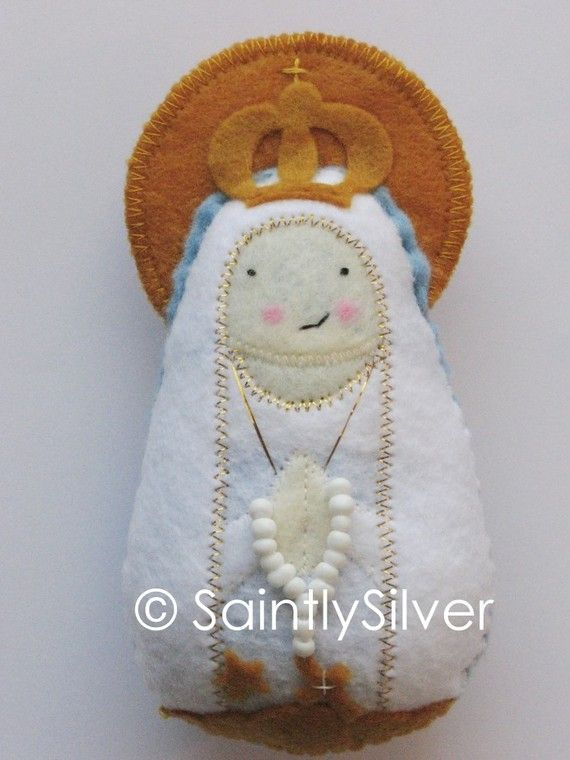 Our Lady of Fatima Felt Saint Softie by SaintlySilver on Etsy
