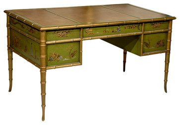 Faux Bamboo Chinoiserie Desk asian-desks