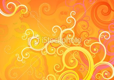 orange floral background Royalty Free Stock Vector Art Illustration
