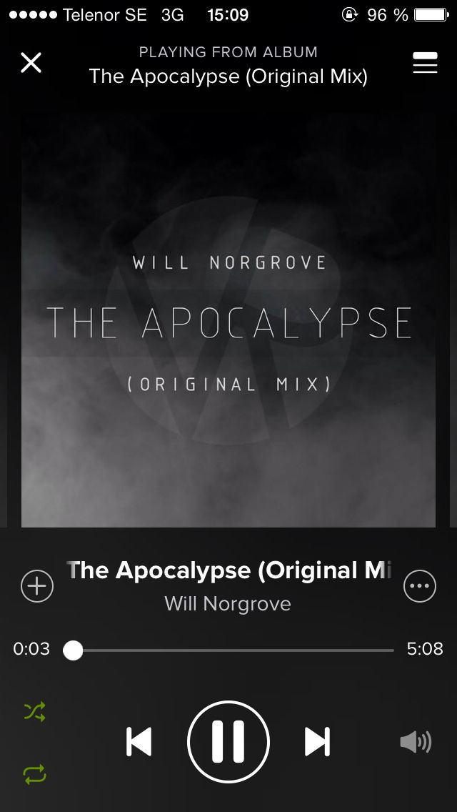 The apocalypse. I made this song before Poltergeist but it was released as my second single