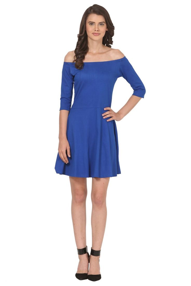 Off shoulder one piece buy now color blue