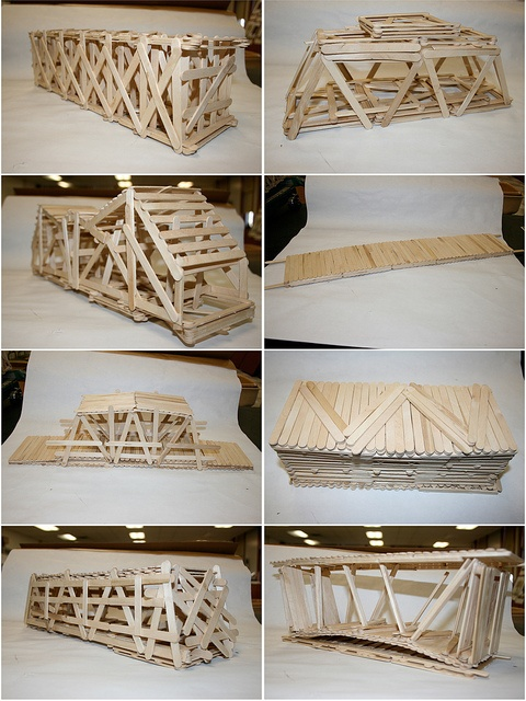 Popsicle Stick Bridges, via Flickr.