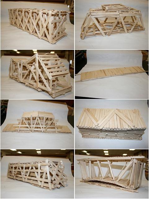 Popsicle Stick Bridges, via Flickr.