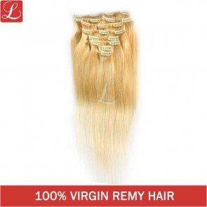 Color#22 Remy Human Hair 20Clips 8pcs/set Clip In Hair Extensions http://www.latesthair.com/