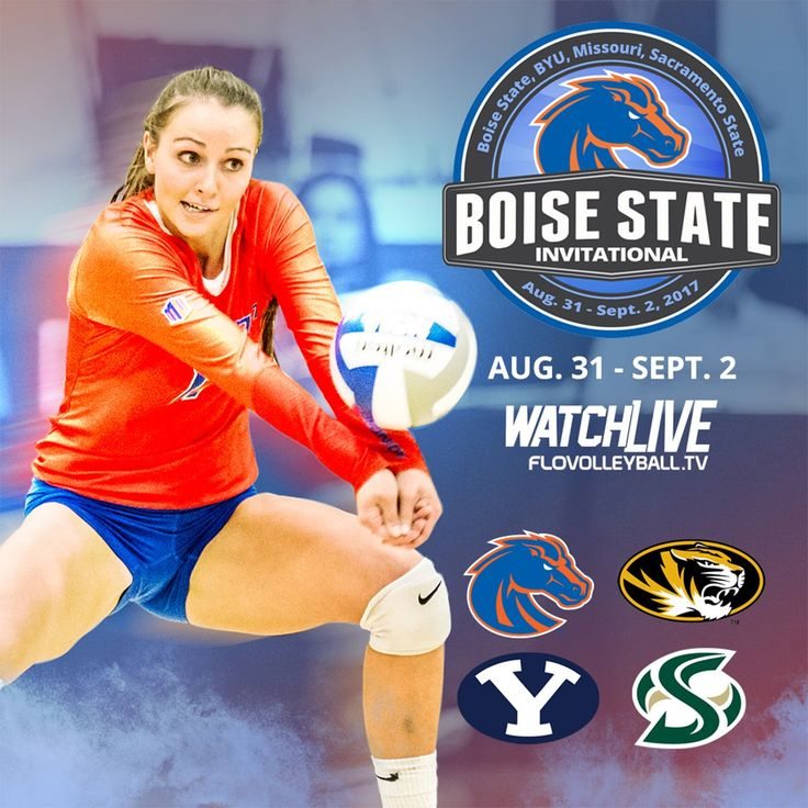 Mark your calendars for Broncos' home opening tournament this weekend starting with #10 BYU Thursday #BleedBlue