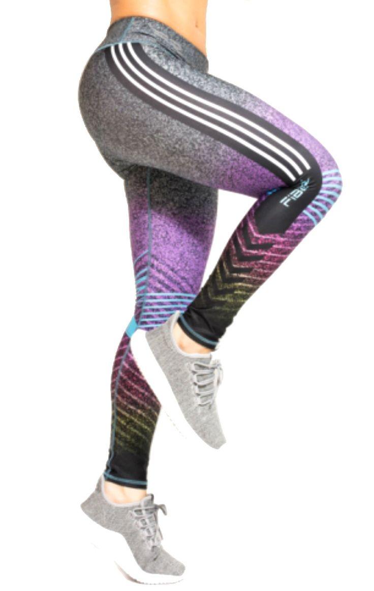 Fiber - Grey and Purple Leggings
