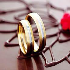 Alianças de noivado e casamento Baratas