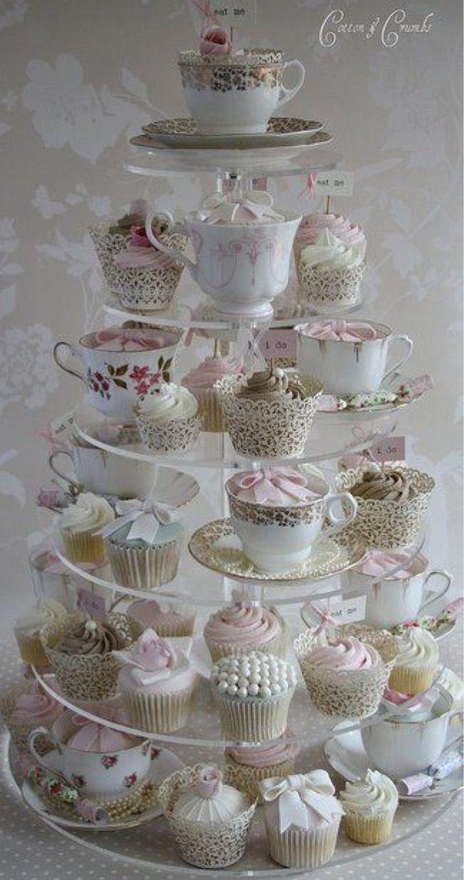 High tea tier of cupcakes