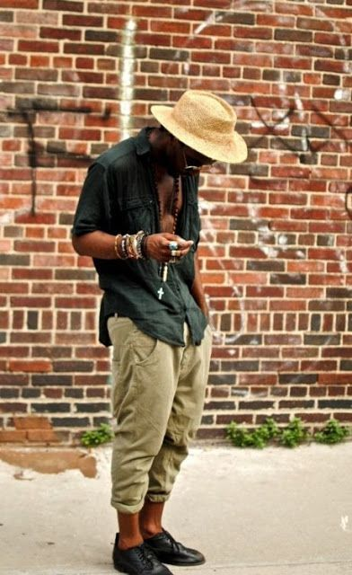 Just because it's hot outside doesn't mean you can't look cool.  Men's Bohemian Fashion for Summer {Men's boho bohemian hippie fashion, style guide} Men's summer fashion.