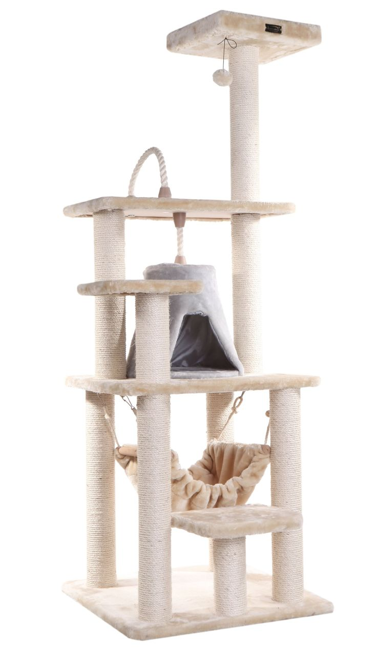 AmazonSmile : Armarkat Cat Tree Model A6501, Beige : Cat Trees Cheap : Pet Supplies
