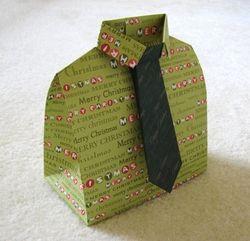 3-D Origami Shirt Box