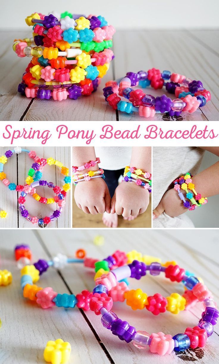 how to make crafts with pony beads