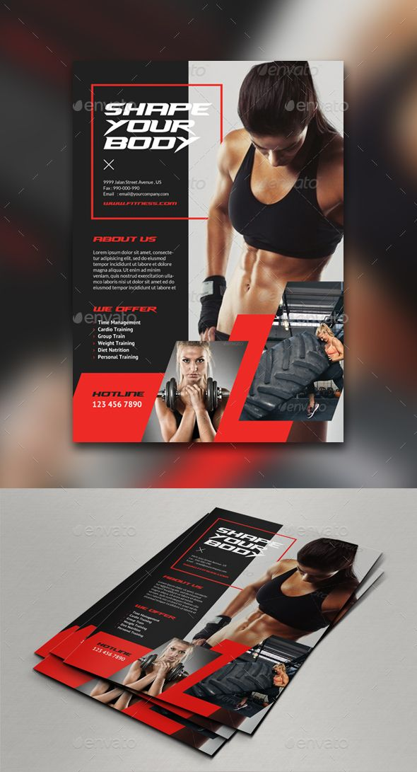 Fitness Club Flyer/Poster Template Be simple, Logos and Template - program proposal template