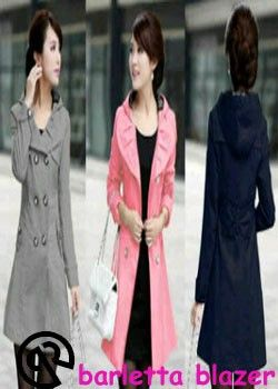 Barletta blazer @75rb Bahan : fleece cotton Fit to L Contact us 083814123009