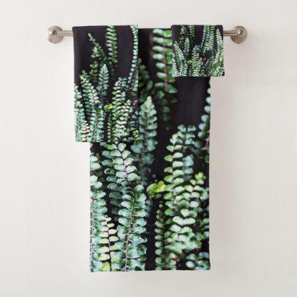 Dark Nature Bath Towel Set - black gifts unique cool diy customize personalize