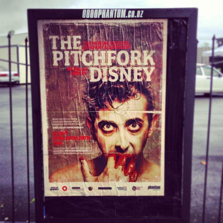 Poster design for theatre event. Pitchfork Disney. Photoshop / inDesign / illustrator. 2013