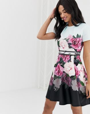 76dc49802f Ted Baker Wilmana magnificent floral skater dress in 2019 | DRESS ...