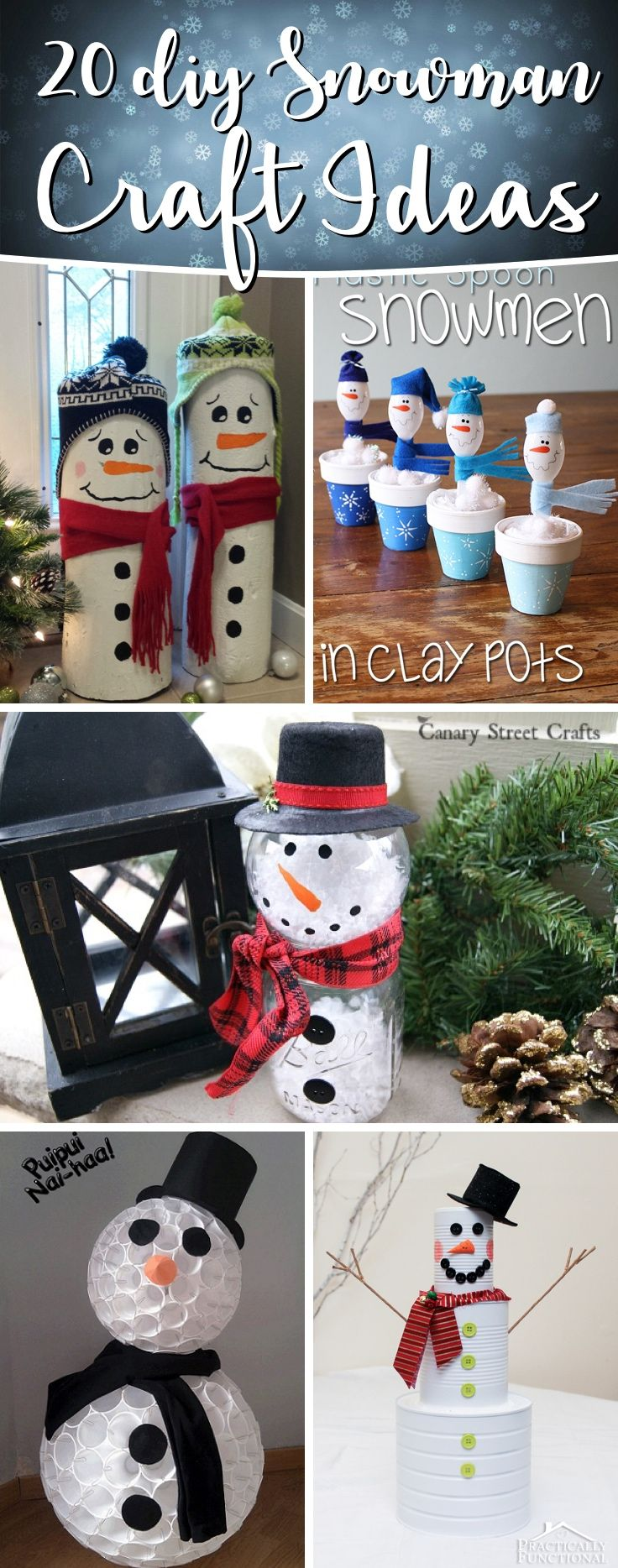 20 DIY Snowman Craft Ideas Making Christmas Even More Happiness-Worthy #snowman #holiday #christmas #diy #home #decor #homedecor