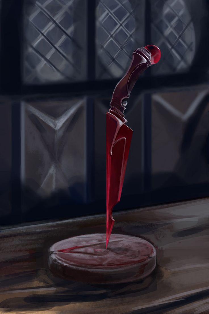 adaga do cristal de sangue: esta lamina se torna mais afiada a cada gota de sangue q ela bebe, mas caso ela não beba sangue durante um periodo longo sua lamina perde a afiação até ficar cega