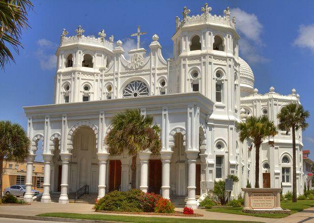 Sacred Heart Catholic Church, built in 1904 in Galveston ...