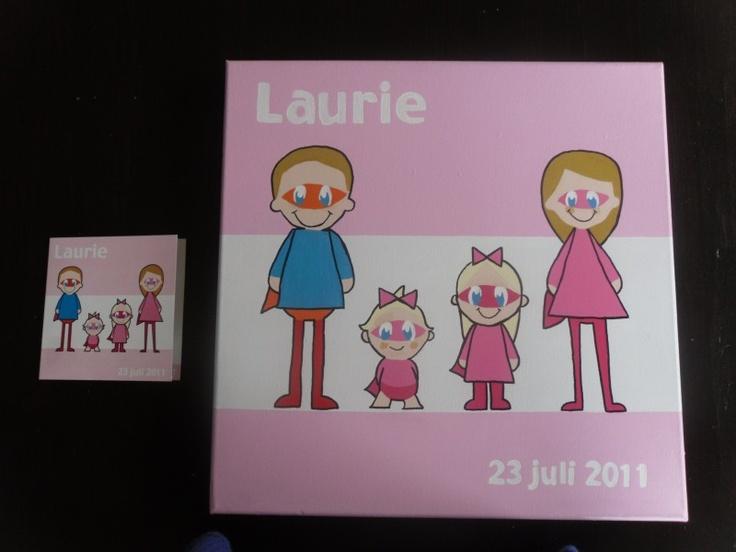 Atelier Myrna - geboorteschilderij Laurie