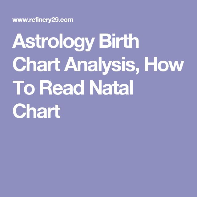 Astrology Birth Chart Analysis, How To Read Natal Chart