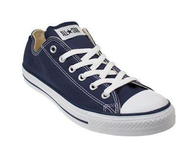 Converse All Star Ox Chuck Taylor Navy Blue Canvas Trainers Sizes 3-12 on eBay!