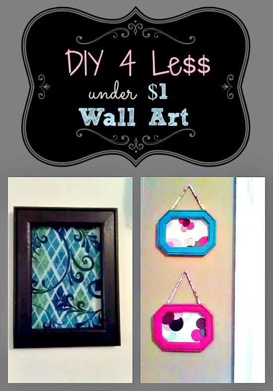Diy wall decor pinterest - Under 1 Wall Art Quick Easy And So Cheap Http