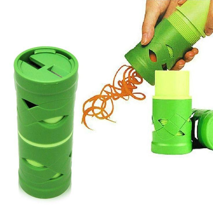 Non-toxic materia Green ABS Vegetable Fruit Shred Twister Cutter Spiral Slicer Peeler Garnish