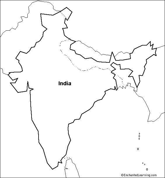 Printable Blank Map Of Ancient India