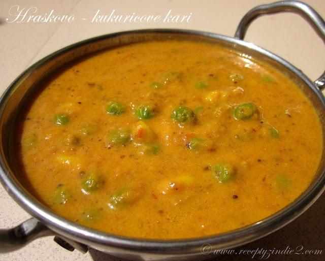 Recepty z Indie II.: Hraskovo - kukuricove kari