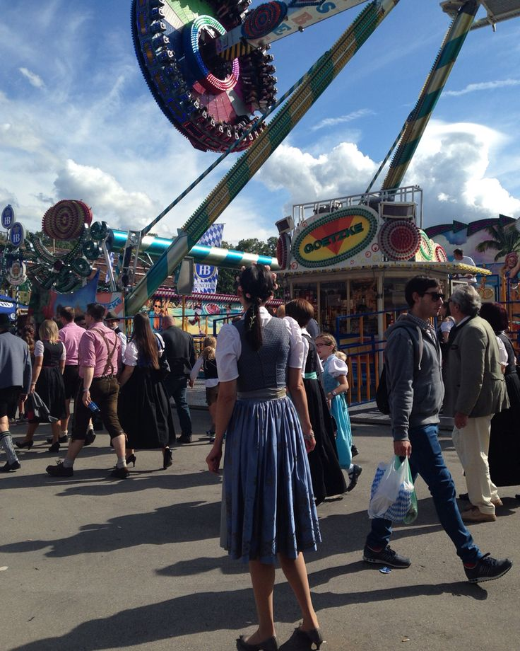 Girl watching the ride at Oktoberfest 2015