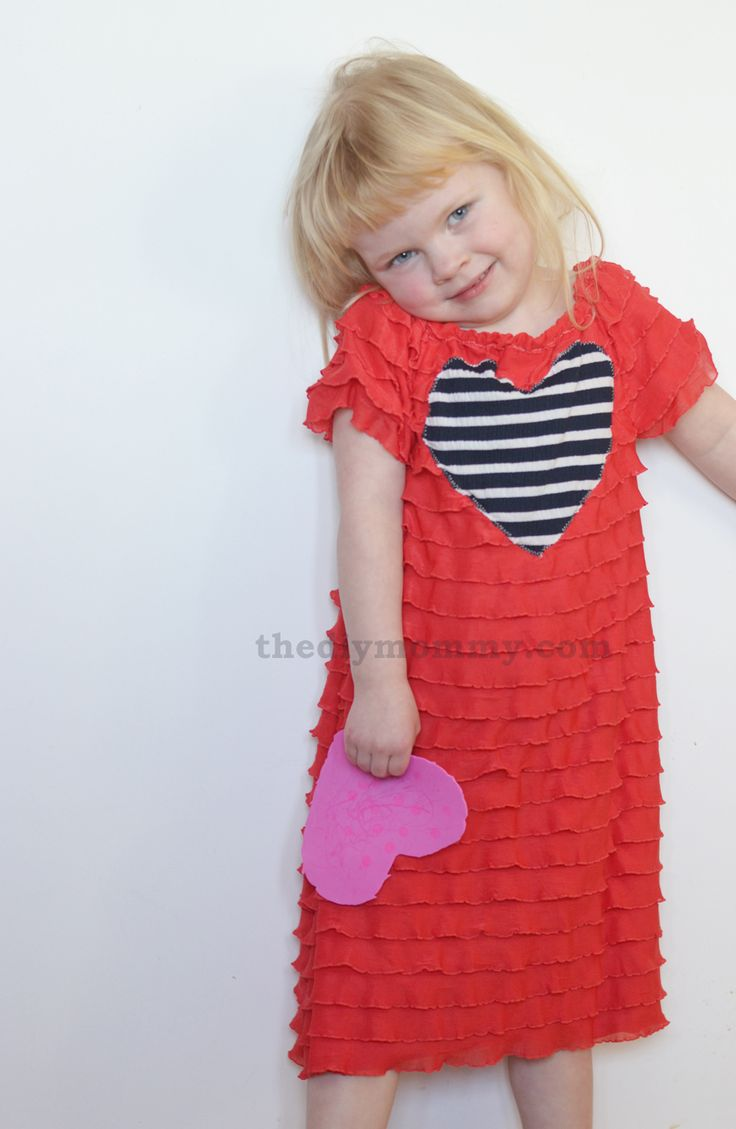 Sew an Easy Valentine Dress with Ruffle Fabric | The DIY Mommy