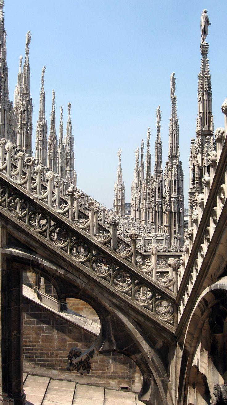 Duomo di Milano | The Gothic cathedral took nearly six centuries 2 complete.. 1386-1965