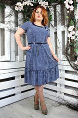 Красивое платье Тюльпан горох джинс vt0033dj