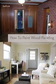 Image result for painting fake wood paneling before after