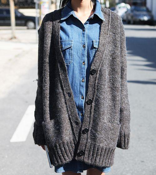 Best 25  Oversized knit cardigan ideas on Pinterest   Chunky knit ...