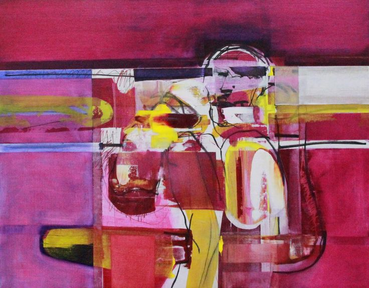 """""""Seated Figure 2"""" 125cm x 155cm For more information please contact REDSEA Gallery on (07) 3162 2230 © John Waller"""
