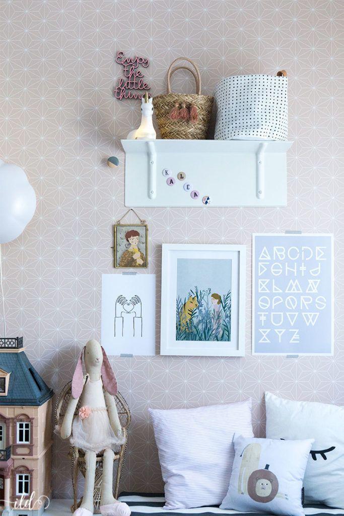 Wandgestaltung im Kinderzimmer mit neuen Postern und Bildern - ideen fur leseecke pastellfarben