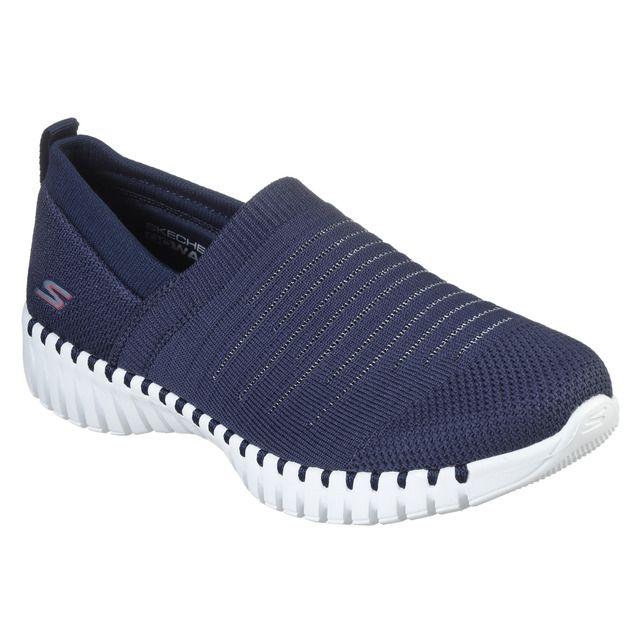 Espectador Locura vehículo  Skechers - Zapatillas deportivas de mujer Skeckers en azul marino sin  cordones | Zapatillas deportivas mujer, Zapatillas deportivas, Skechers