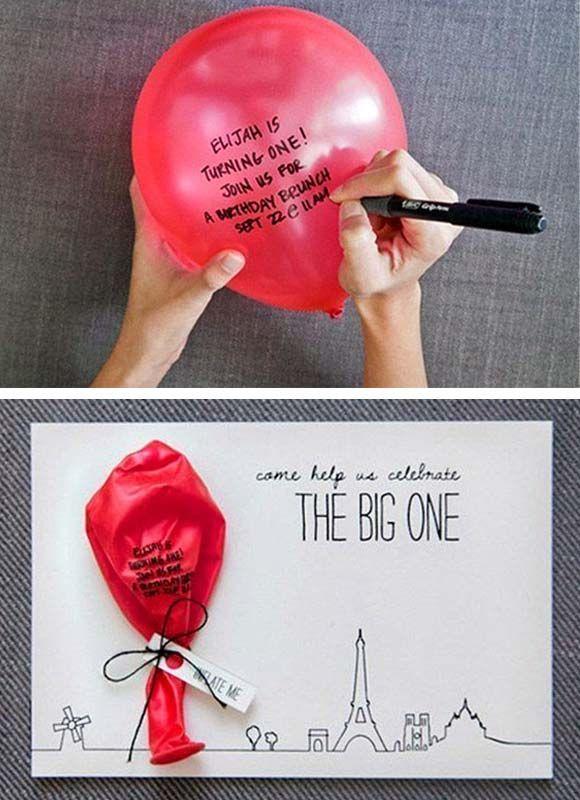 25 beste idee n over ballon uitnodiging op pinterest doos uitnodigingen ballon partij en doe - Idee deco slaapkamer jongen jaar ...
