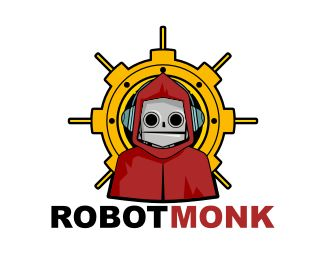 Robot Monk Logo - This logo is ideal for art & photography, design & creative services, entertainment, and any related businesses. Price $350.00