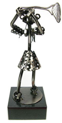 Tennis Statue Trophy Female Nuts & Bolts @ TennisGifts.com