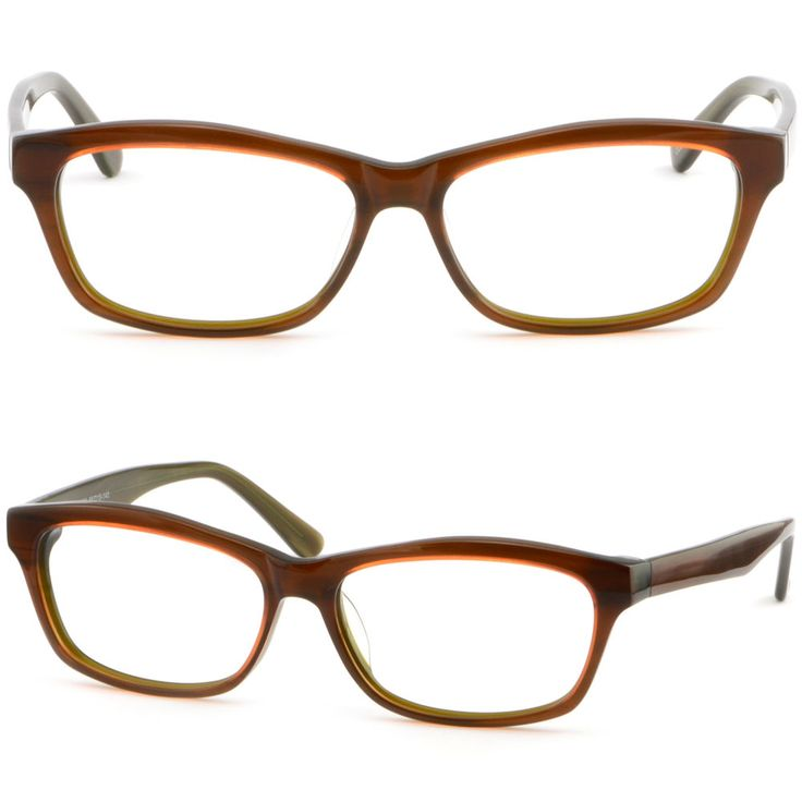Unisex Acetate Plastic Frame Prescription Glasses Transition RX Sunglasses Amber #Unbranded