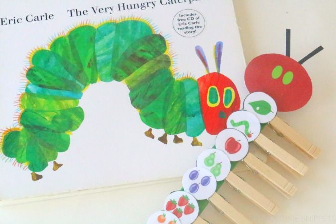 Very Hungry Caterpillar Storybook Sequencing Stick with Printable | School Time Snippets