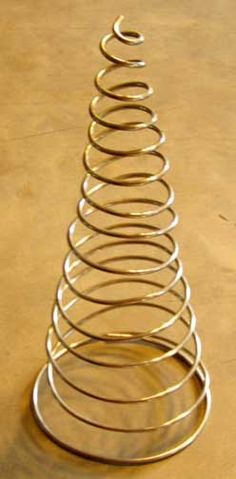 gold aluminum wire made into spirals