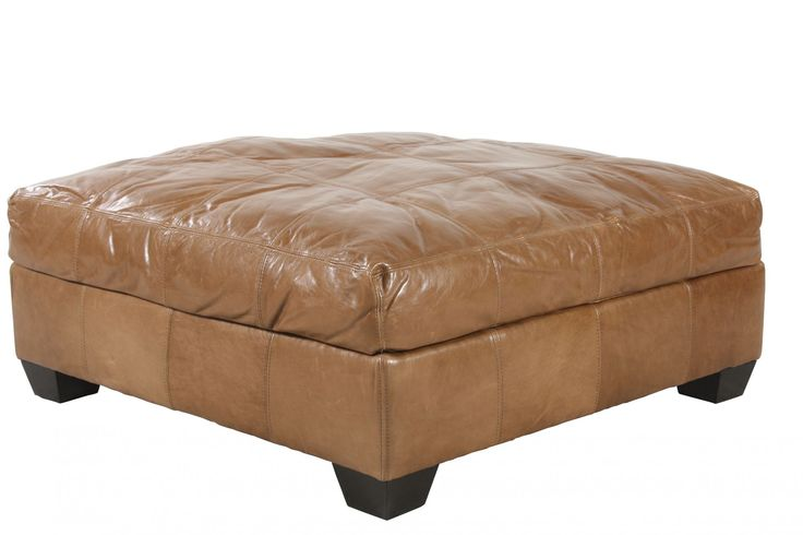 Family Jonathan Louis Riley Leather Ottoman Mathis