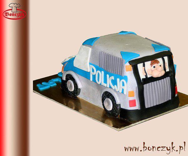 #police, #policja, #car, #samochod, #cake, #tort, #policecake, #policjatort, www.bonczyk.pl
