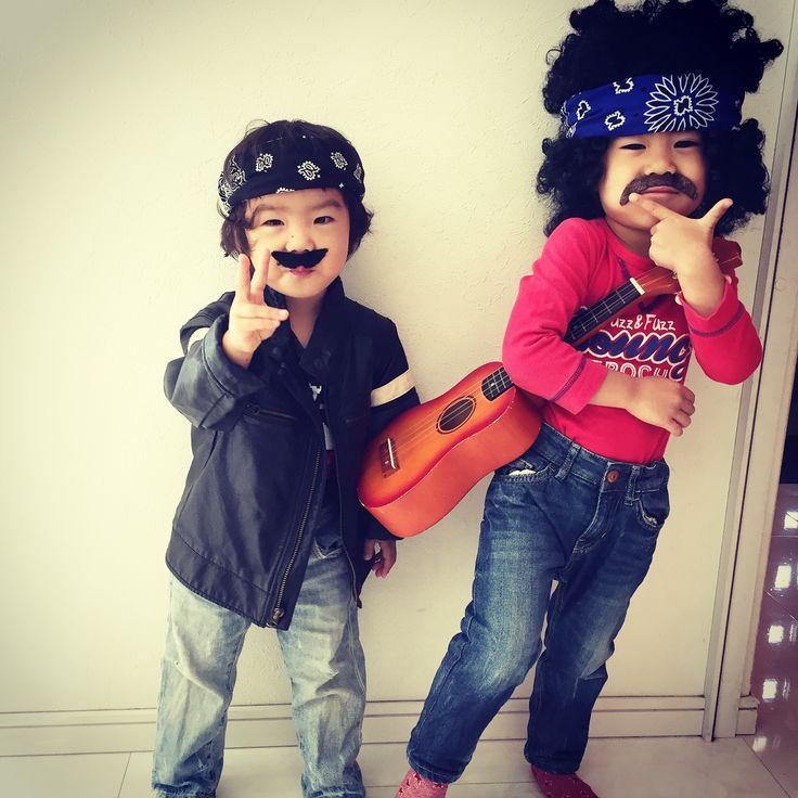 今更だけどこのあいだのハロウィン1 . . #ハロウィン #halloween #halloweenmakeup #halloweencostume #halloweenparty #猫メイク #catmakeup #cathair #小さなおじさん #rock #rockstar #コスプレ#猫耳