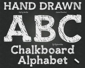 Schoolbord bloem Clip Art Clipart: Schoolbord door DigiWorkshop